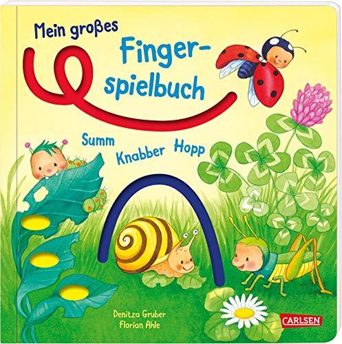Mein großes Fingerspielbuch: Summ, knabber, hopp!: Ein Mitmachbuch für die Sinne ab 1 Jahr