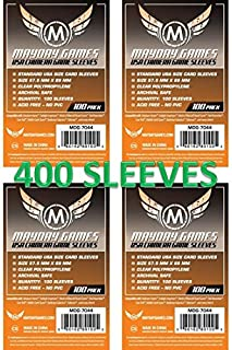 Mayday Games 7044 Clear Sleeves 57.5x89mm USA Chimera Size (4x100 Pack, 400 sleeves)