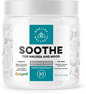 Soothe – Nausea & Gut Health Supplement | Ginger, Licorice Root, Vitamin B6, Magnesium | Perfect for Anti-Nausea, Stomach ...
