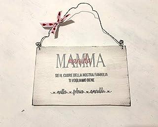 Regalo festa della mamma - Targa in legno per la mamma - idea regalo personalizzato regali personalizzati Natale amici mad...