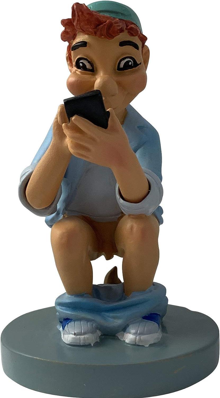 Caganer.eu - Caganer Figura decorativa con smartphone, divertidas cunas y figuras de decoración