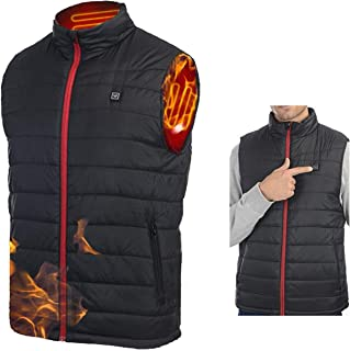 Whishine Heated Vest for Men Women - USB Electric Heating Vest, Washable Warm Heated Jacket for Outdoor Motorcycle Hiking ...