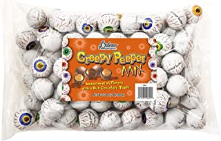 R.M. Palmer Creepy Peeper Mix - (Approx. 74 Pieces) Bulk Bag, Fun Sized Halloween Eyeballs Themed Treats, Candy, and Snacks (2 LB)