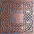 Tin Ceiling Tile Faux finishes Glue up Ceiling Panels PL61 Pack of 10pcs (Rustic Copper)
