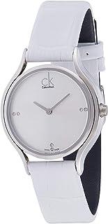 Calvin Klein Women's Silver Dial Leather Band Watch - K2U231KW