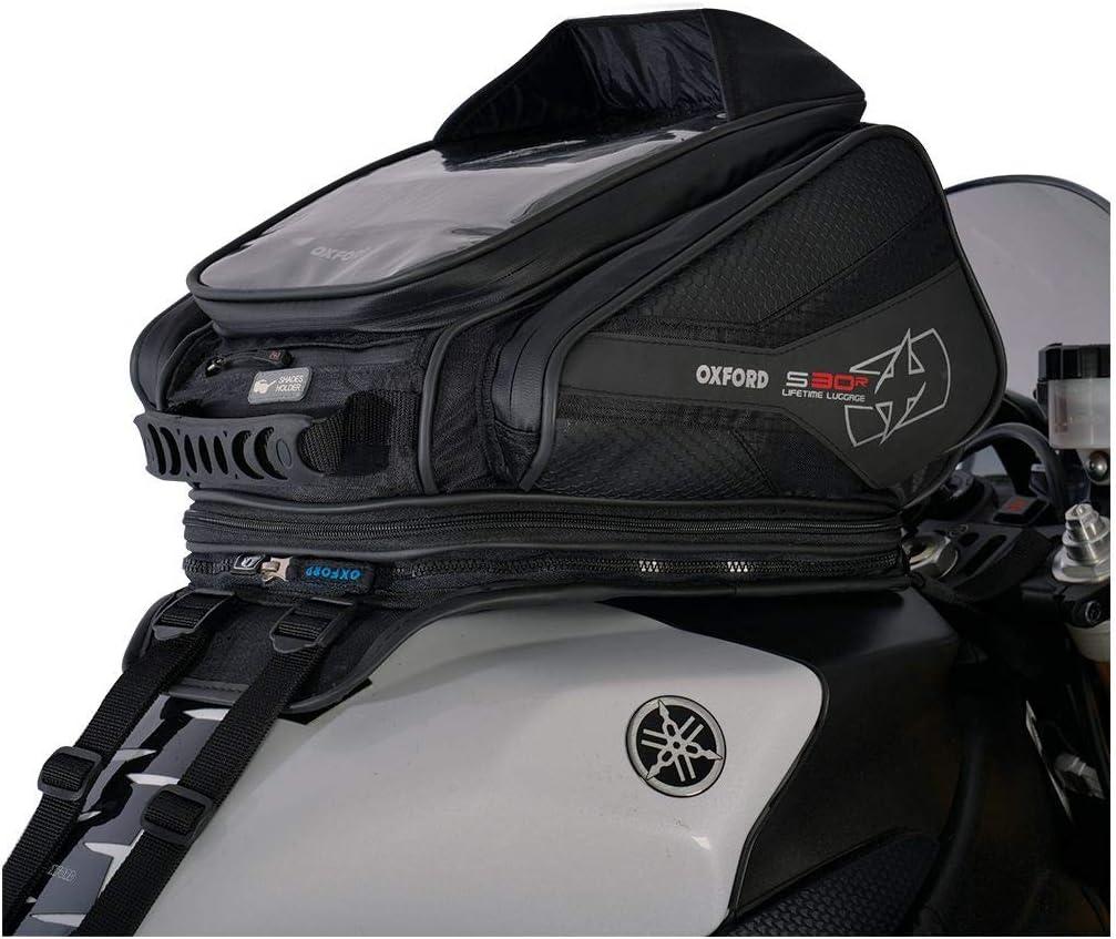 Oxford OL345 Black 30 L Tank Bag (S30R Strap Mount Motorcycle): Automotive