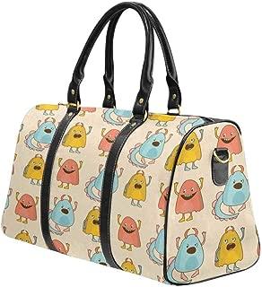 Large Duffel Bag, Flight Bag Gym Bag Cute Monsters