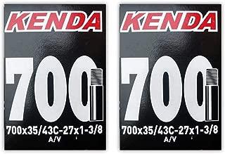 Kenda 700x35-43c (27x1-3/8) Schrader Valve Bike Tube Bundle - 2 Pack w/Decal/Sticker