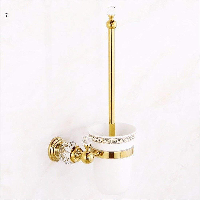 The Base of gold in Cristal Pendentif Copper Hook Hook All Bathroom,Toilet Brush
