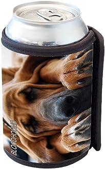 Sunshine Cases Floral Daschund Dog Can Cooler Bottle Hugger