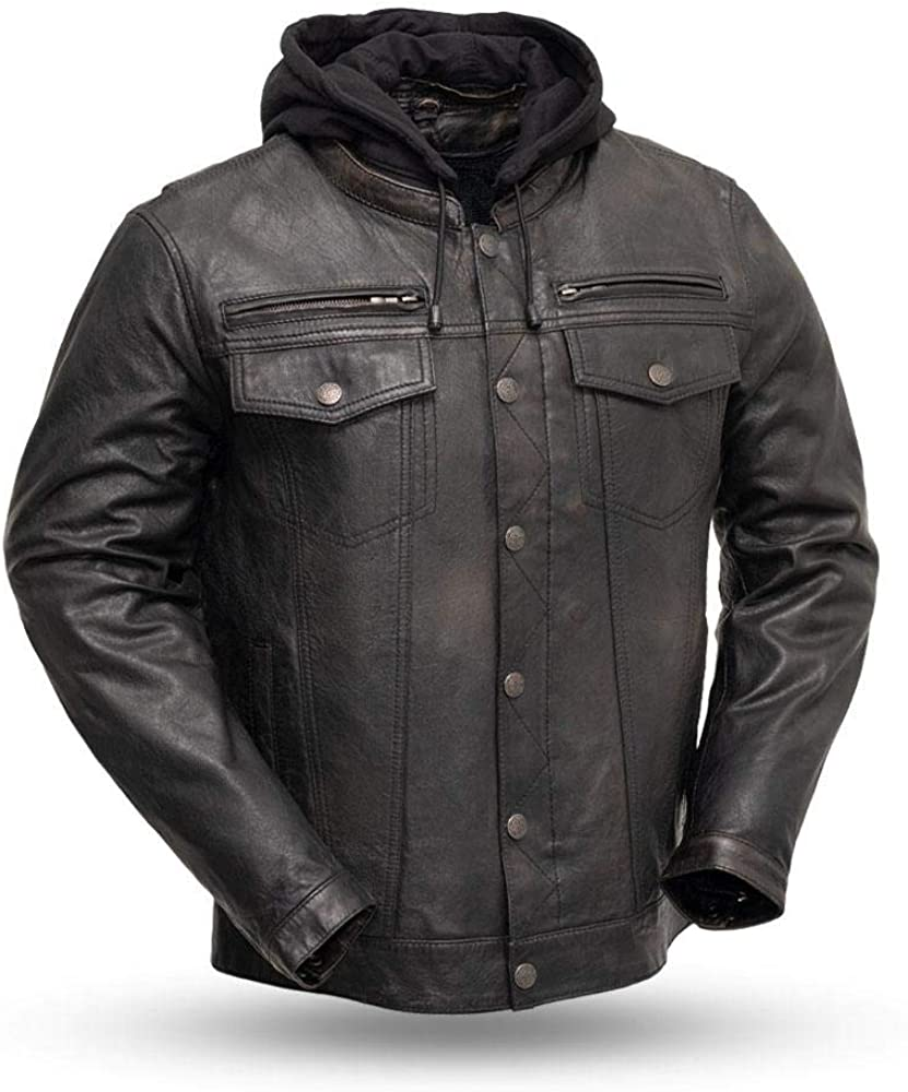 First Mfg Co Men's Vendetta Leather Jacket