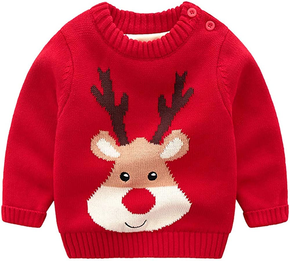Plustrong Toddler Girls Boys Kids Christmas Sweater Sno Limited time 5% OFF cheap sale Reindeer