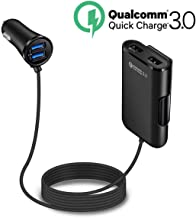 Quick Charge QC 3.0 Car Charger, LECMARK Front/Back Seat Charging Car Cigarette Lighter Chargers Adapter with 4 USB Ports ...