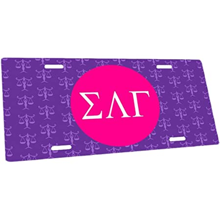 Matte Pink Officially Licensed Sigma Lambda Gamma License Plate ...