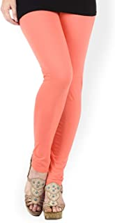 Kalpit Creations Women's Soft Cotton Ankle Length Leggings free size for waist 26-34