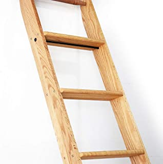 Quite Guide Library Ladder 8 Foot Red Oak Unassembled