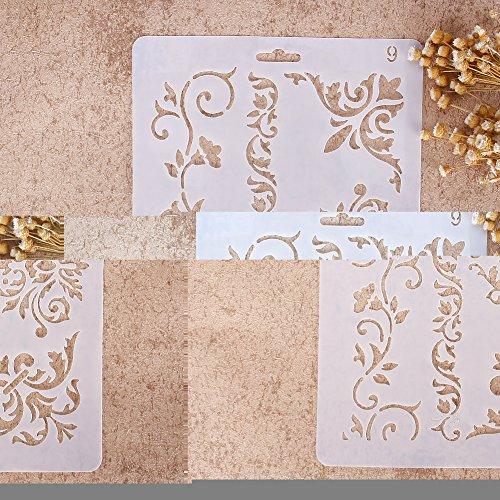 Zhuotop Kinder Zeichenschablonen Set Airbrush Schablonen mit verschiedenen Muster zum Basteln der Alben, gutes Geschenk für Kleinkinder und Teenager