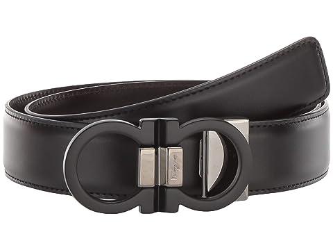 Salvatore Ferragamo Double Gancio Buckle Adjustable/Reversible Belt (678648)