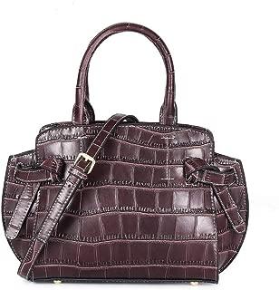Fashion New Trend Casual Fashion Bills Shoulder Slung Large Capacity Cowhide Handbag (Color : Brown)