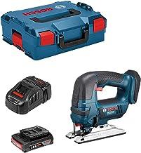 Bosch Sierra de calar GST 18 V-LI B con batería de 18 V + 1 batería de 2,0 Ah + cargador + L-Boxx