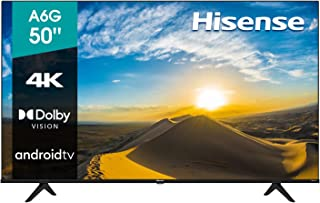 """Hisense 50"""" A6G 4K UHD Android TV con Control de Voz, HDR Dolby Vision (50A6G, 2021)"""