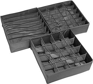 Wishstar Box Rangement sous Vetement, 3 Pièces de Boite de Rangement Pliable Tiroir, Boîte à Tiroirs pour Soutiens-Gorge/C...