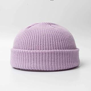 قبعة الشتاء للرجال مقنعين قبعة من الصوف البري متماسكة قبعة البطيخ قبعة من الجلد في الهواء الطلق قبعة المد