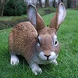 Dekofigur Hase Kaninchen Tierfigur Gartenfigur Wildkaninchen Zwerghase - 5