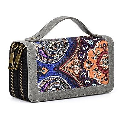 Te-Rich Womens Zip Around Clutch Wallet Card Holder Purse