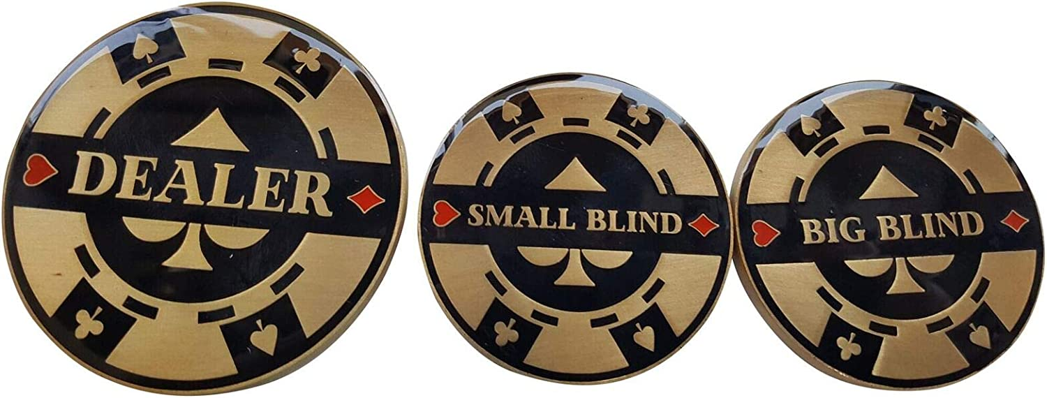 Double 2021 spring and summer famous new Sided Poker Dealer Big Blind Button Small