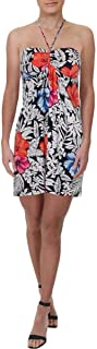 Women's Fuego Floral Tambour Halter Dress