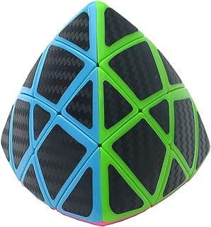YSMYWM Carbon Fiber Sticker Mastermorphix Magic Cube 3X3Twisty Puzzle Cube