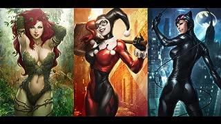 Twenty-three Dc Comics Catwoman Harley Quinn Poison Ivy (24X36 Inch) Silk Poster Home Decor