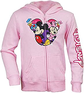 Disney Minnie, Mickey, Donald and Daisy Pink Zip-Up Hoodie