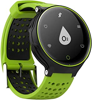 Tong Bluetooth Connection Mobile Smart Wear with Pedometer Heart Rate Monitor Waterproof Wearable Swimming (Color : Green)
