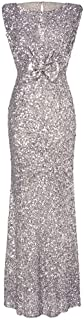 RAISINGTOP Women's Formal Dresses and Gowns Prom Party Sexy Sleeveless Backless Bodycon Glitter Long Cocktail Dress