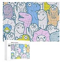 トカゲ 漫画 大人 子供 300ピースの木製パズル 誕生日 プレゼント 教育ゲーム パズルゲーム ギフト 人気