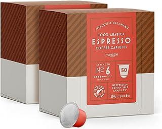 by Amazon Capsule Espresso, compatibili Nespresso - 100 capsule (2 x 50)