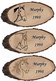 1 Boxenschild  Pferdetürschild  Rindenbrett Hengst   27-33 cm Bild 302