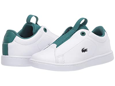Lacoste Kids Carnaby Evo Easy 120 1 SUI (Toddler/Little Kid) (White/Green) Kid