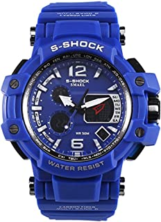 Men'S Electronic Watch, Analog Digital Watch Military Sports Watch Men'S Double Display Business Casual Multi-Function Ele...