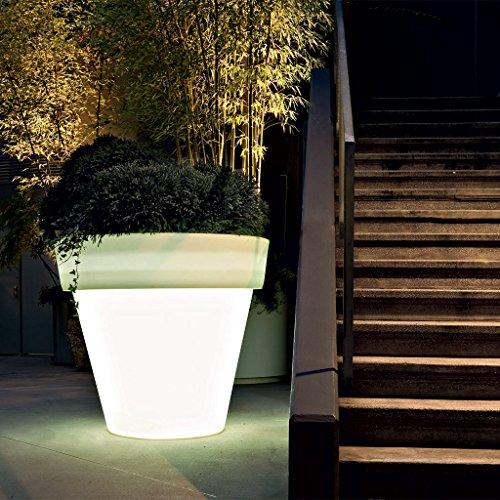 SERRALUNGA Vas One lampada/vaso M, neutral ØxH 130 x 120 cm plastica
