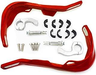 """League & Co AB-1234 - Cubremanos de plástico para mango de moto universal Motorcross Standard 7/8"""" (22mm)--1 1/8"""" (28mm) manillar + kit de fijación"""