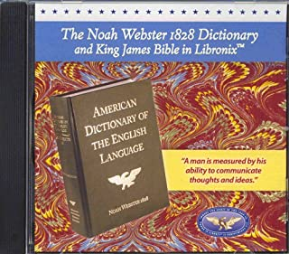 The Noah Webster 1828 Dictionary and King James Bible in Libronix CD