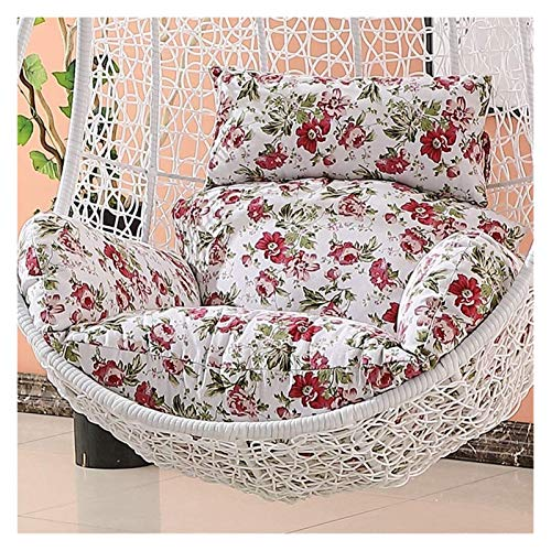 LLNN Home Decoration Swing Chair Cushion Wicker Rattan Hanging Egg Chair Pads Non-Slip Soft Swing Chair Cushion Without Stand Indoor Balcony Pad Garden Hanging Basket Furniture Cushion (Color : D)