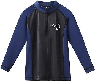 (ラパサ)Lapasa キッズ ラッシュガード フルジップ 水着 長袖 UV98%カット UPF50+ 日焼け止 水陸両用 子供 男の子 女の子 K02