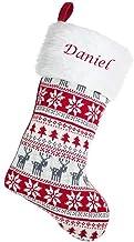Hoolaroo Personalised FairIsle 45cm Knit Christmas Stocking
