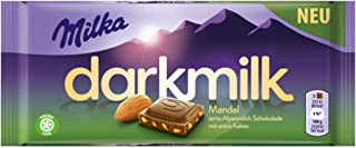 Milka Dark Milk Almond Dark Alpinemilk Chocolate Bar Candy Original German Chocolate 85g/2.99oz