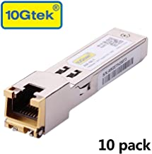 Gigabit SFP LC Multi-Mode Transceiver, 1000BASE-SX Mini-GBIC Module for Cisco GLC-SX-MMD/GLC-SX-MM/SFP-GE-S, Meraki MA-SFP-1GB-SXU, biquiti UF-MM-1G, (850nm, DDM, 550m), Pack of 10