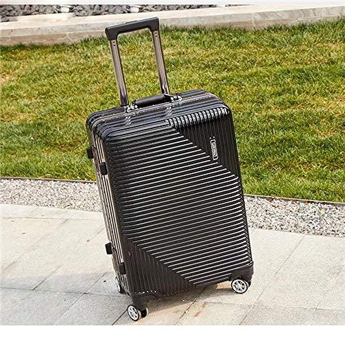 SFBBBO luggage suitcase Rolling luggage travel suitcase with wheels Spinner trolley case boarding carry-on luggage 22' black